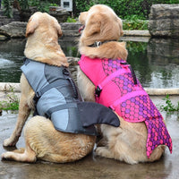 Mermaid and shark life jacket for dogs