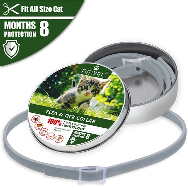 Pet Cat Flea Tick Protective Collar Fleas Ticks Mosquito Outdoor Protection Pets Cats