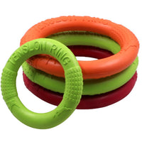 Dog flying ring toy product for pet training outdoors in different colors