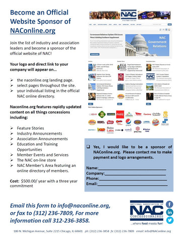 NAConline Annual Website Sponsorship
