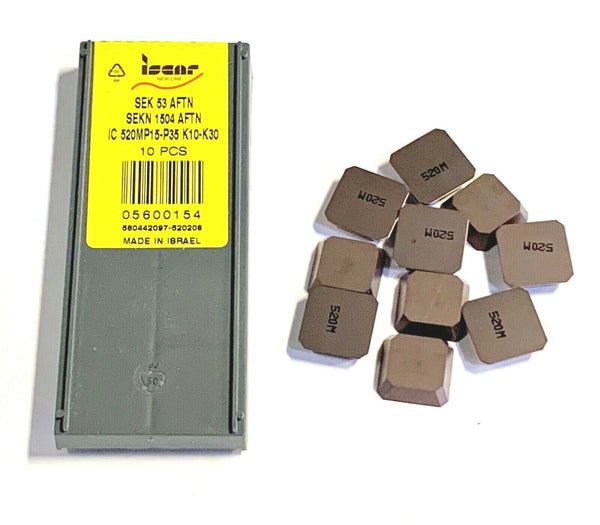 Iscar Carbide Inserts SEK 53AFTN IC520M Milling Insert 10 Pack