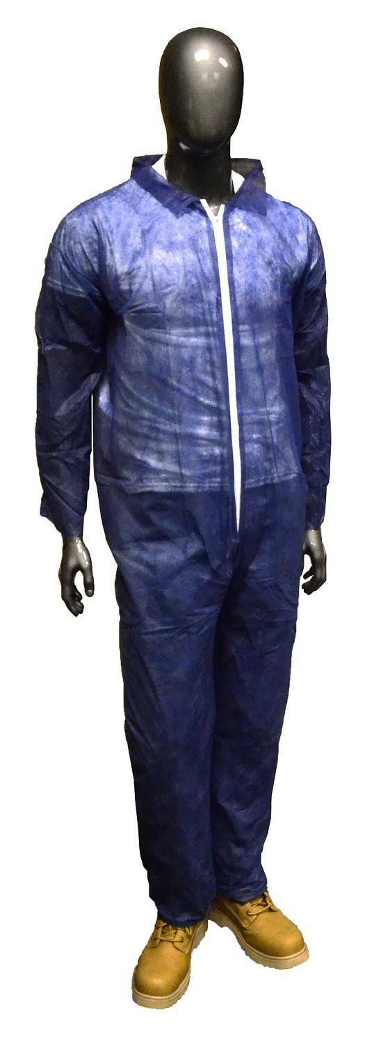West Chester Blue Coveralls Open Wrists Ankles Polypropylene Size Medium