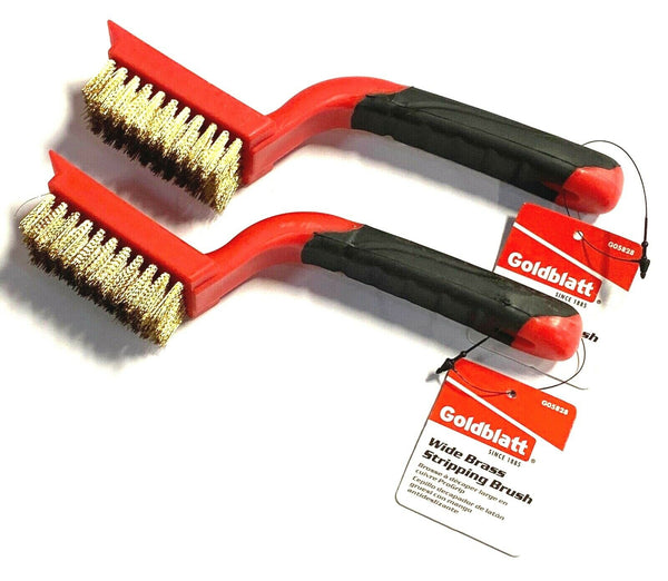 Goldblatt Brass Brush Stripping Scraper Metal Removal Anti Spark Soft Grip 2 PK