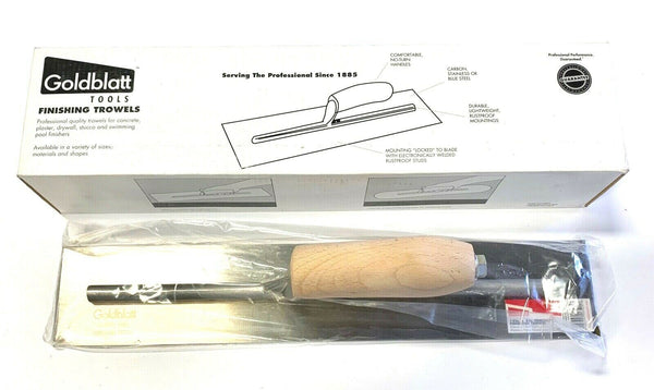 "Goldblatt Concrete Finishing Trowel 16"" X 3"" Burner Trowel Camel Back G06521"