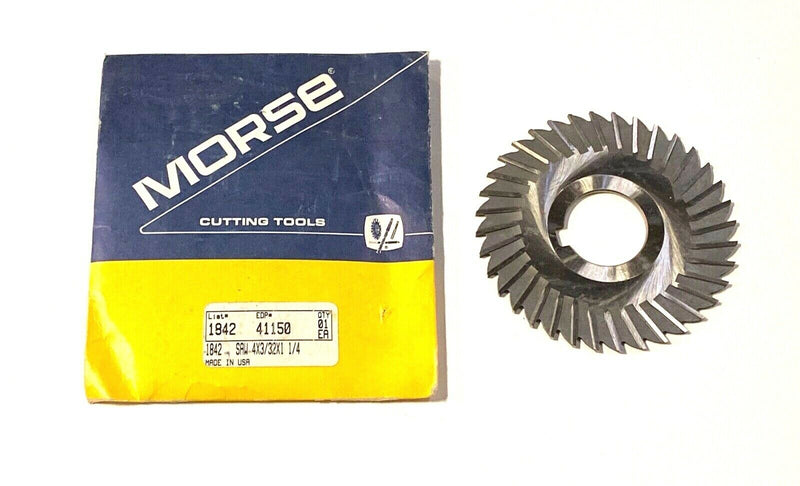 "Morse 4"" x 3/32"" x 1-1/4"" Metal Slitting Saw HSS 36 Teeth Straight Tooth USA"