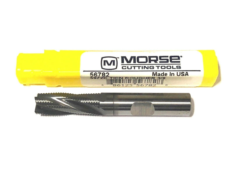 "Morse 3/8"" Carbide Rouging End Mill TiCN Coated 4 Flute USA Made"