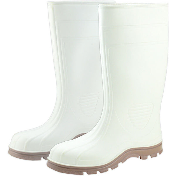 West Chester White PVC Slip Resistant Boot Waterproof Size 11 USA Made