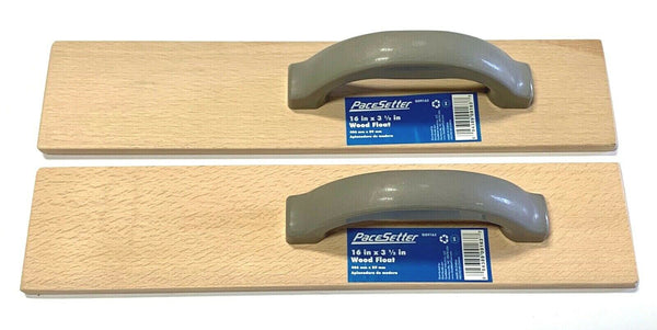 "PaceSetter Wood Float 16"" x 3-1/2"" Concrete Leveling 2 Pack G09163"
