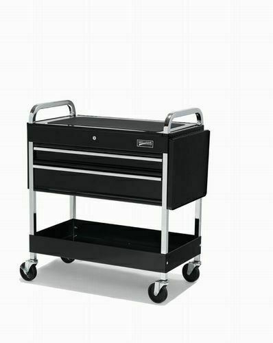JH Williams 3 Drawer Mechanic's Roll Cart Black 18 Gauge Heavy Duty Steel 50721