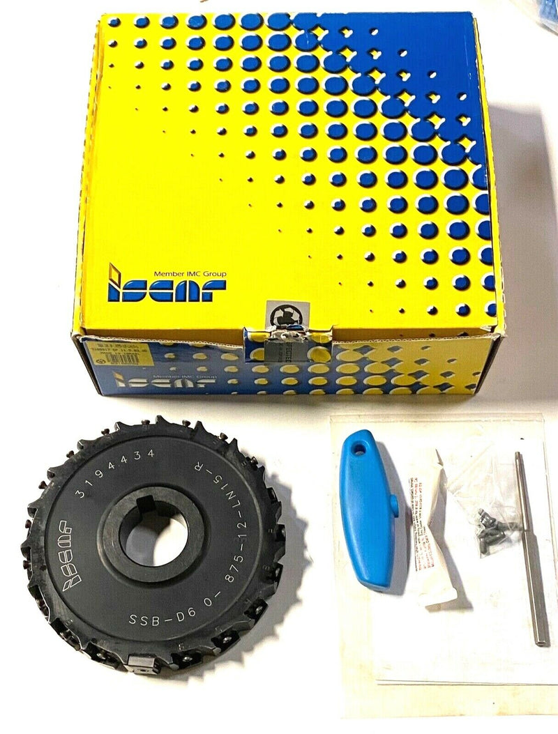 "Iscar 6"" Indexable Slotting Cutter Single Sided‎ SSB D6.0-.875-12-LN15-L"