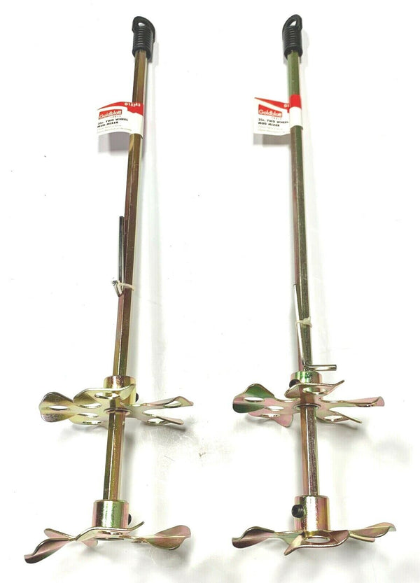 "Goldblatt 3-1/2"" x 16"" Two Wheel Mud Mixer 2 Pack G15343"