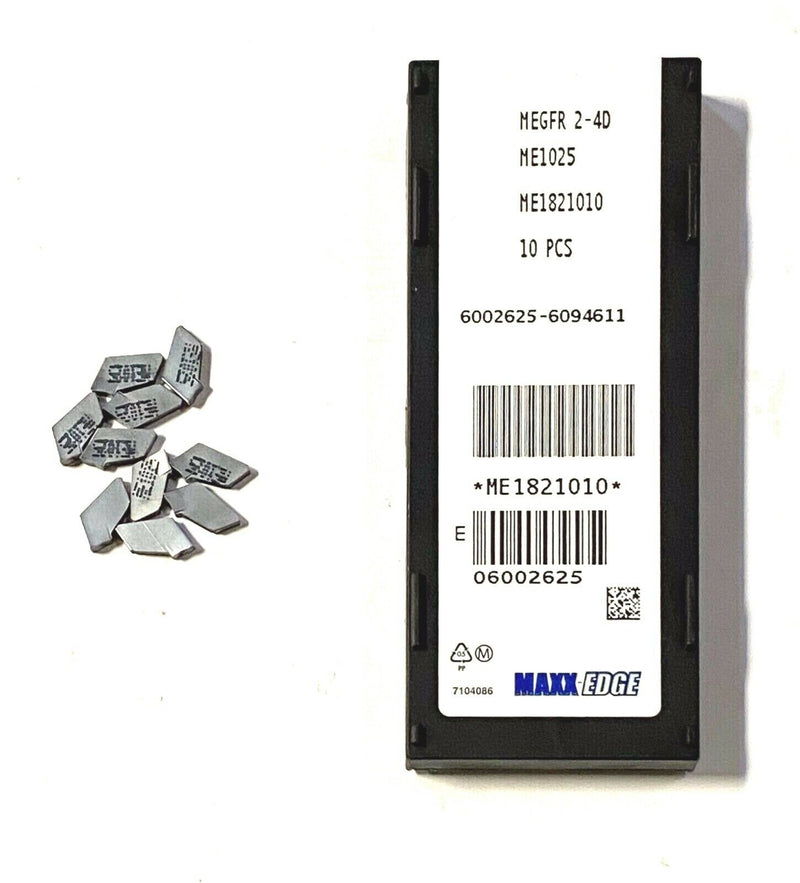 Maxx-Edge Carbide Inserts MEGFR 2-4D Grade ME1025 Cut Off Inserts10 Pack