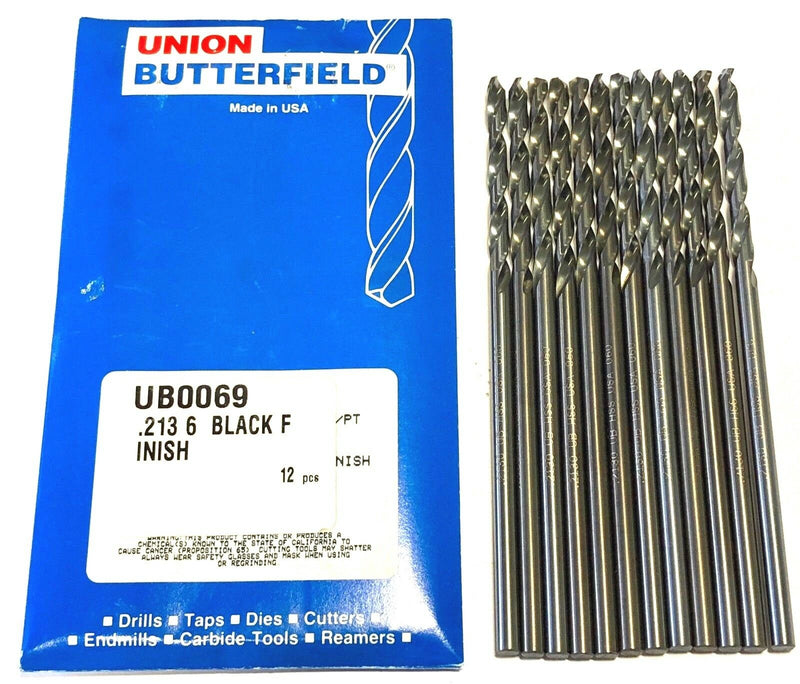 "Union Butterfield No.3 Aircraft Extension Drill Aviation 6"" 12 Pack USA"