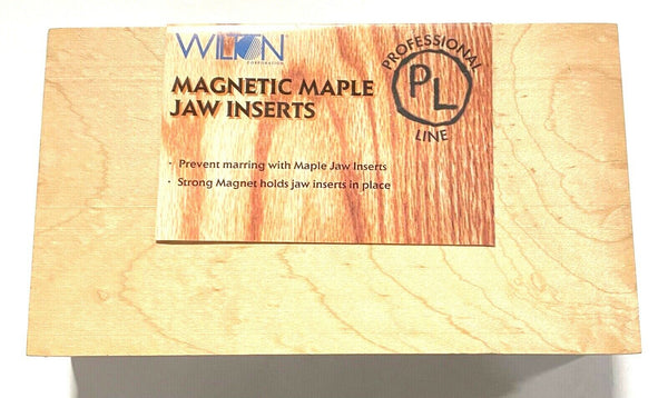 "Wilton 4"" x 7"" Magnetic Maple Jaw Inserts 63142 2 Pieces"