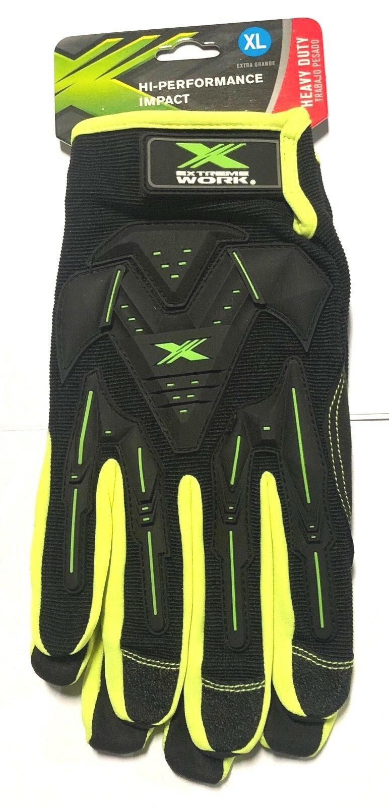 West Chester Gloves Hi-Vis Impact Protection Safety Work Gloves Size XL