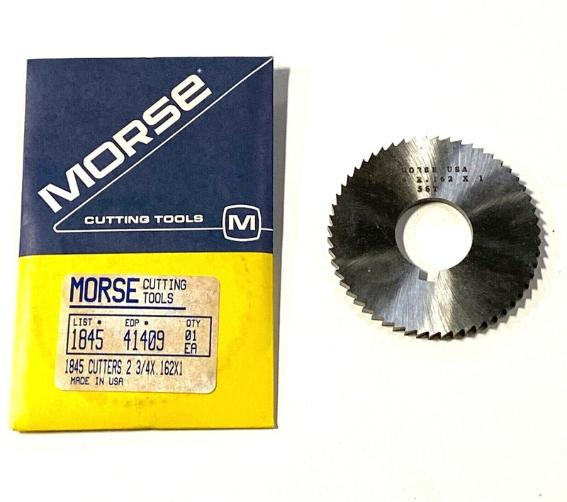 "Morse 2-3/4"" x .162 x 1"" Screw Slotting Saw 56 Teeth High Speed Steel USA"