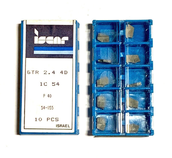 Iscar Carbide Inserts GTR 2.4 4D Grade IC54 T-Cut Parting Grooving 10 Pack