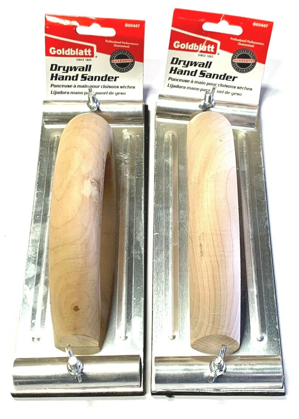 Goldblatt Hand Sander Wood Handle 2 Pack G05447