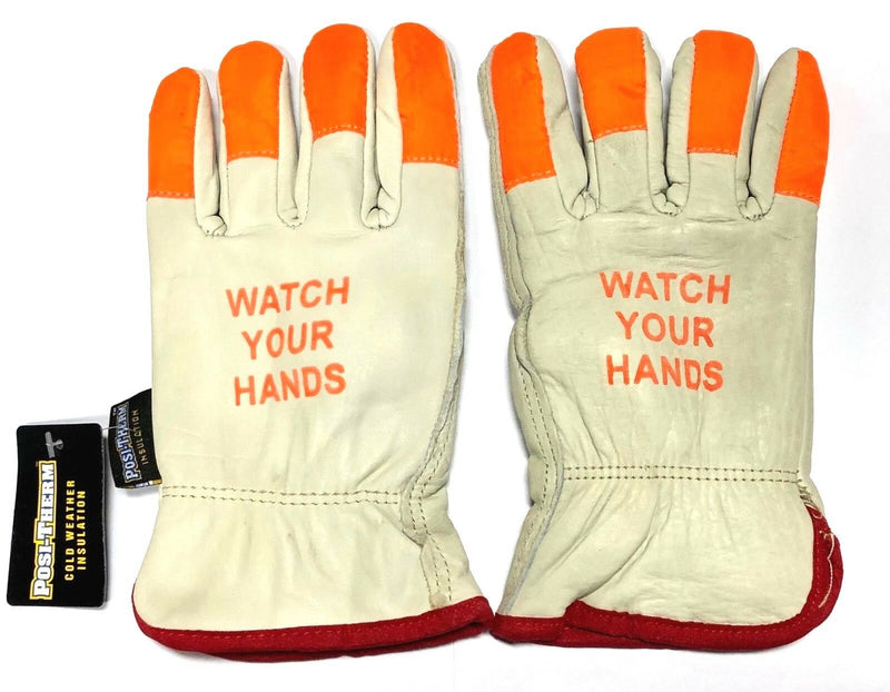 West Chester Safety Driver Gloves Cold Weather Insulation 120g Hi-Vis Size Small