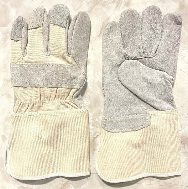 "Large Side Split Leather Palm Work Glove 4-1/2"" Cuff Size 900L"