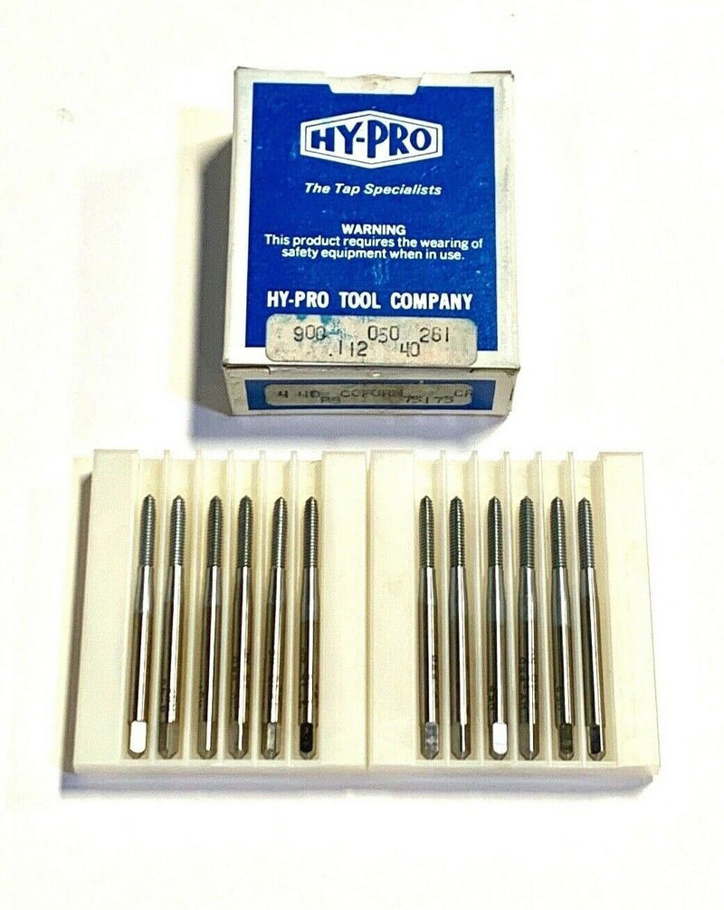 Hy-Pro 4-40 Thread Forming Tap HSS Fluteless Taps Chip Removal 12 Pack USA Made