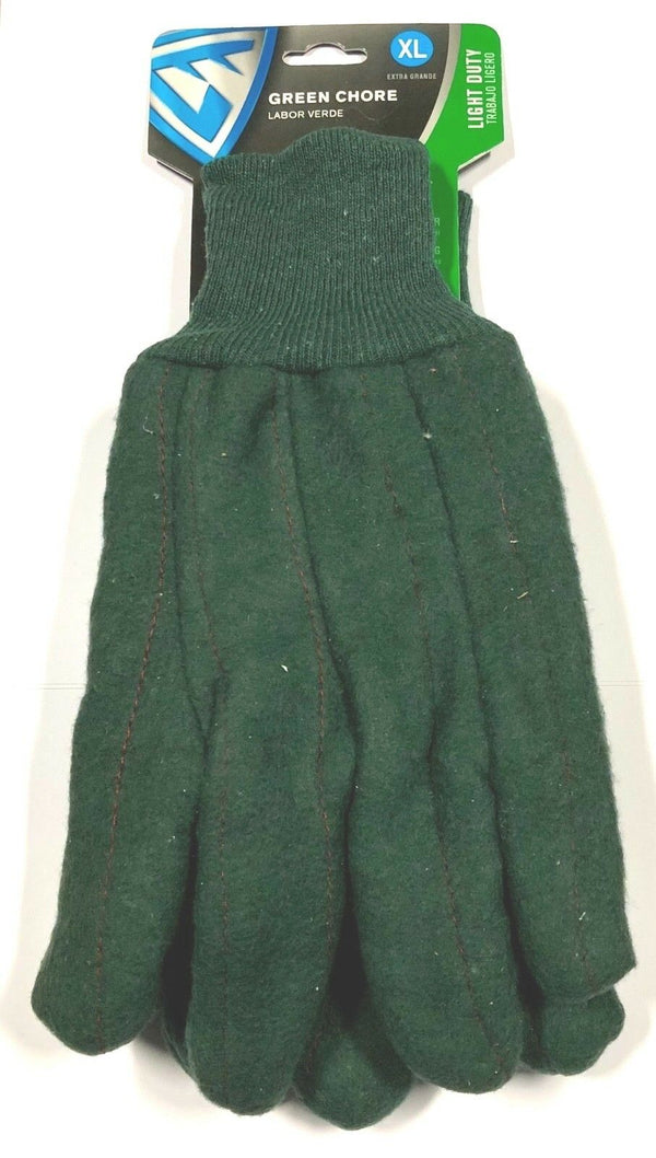 West Chester Chore Glove Knit Wrist Work Glove Green Size XL