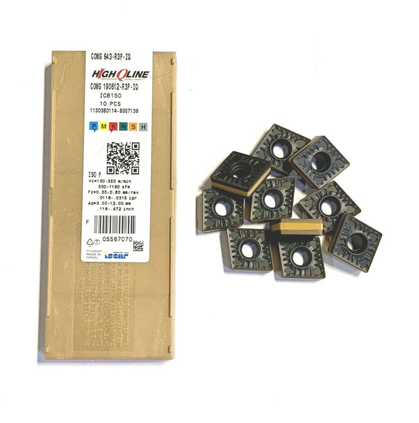Iscar Carbide Inserts COMG 643-R3P-IQ Grade IC8150 10 Pack