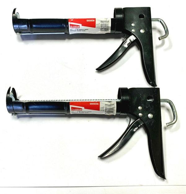 "Goldblatt 1 Quart Caulking Gun 9"" Heavy Duty Ratchet Rod Pistol Grip 2 Pack"