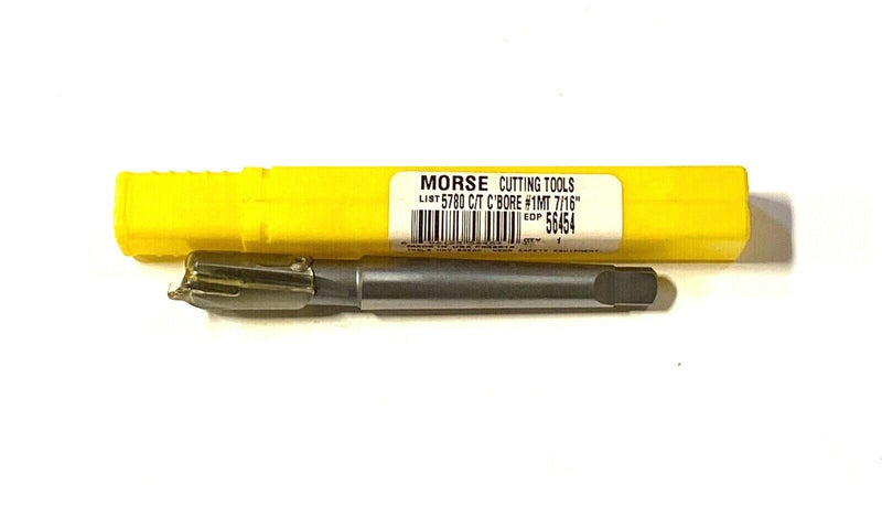 "Morse 7/16"" Carbide Tipped Counterbore Taper Shank Interchangeable Pilot USA"