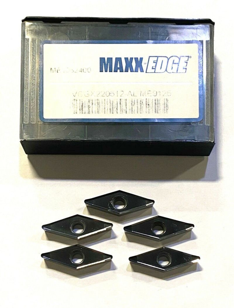 Maxx-Edge Carbide Inserts VCGX220512-AL Grade ME9125 Diamond Turning Insert 5pk