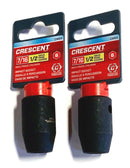 "Crescent 1/2"" Drive 7/16"" Impact Socket 6 Point 2 Pack CIMS4"