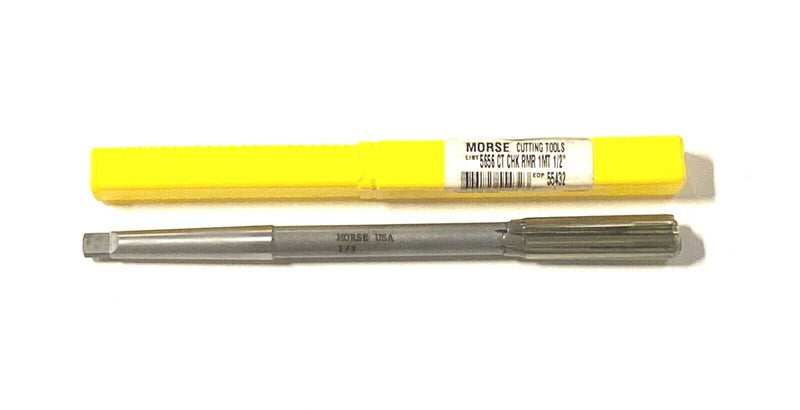 "Morse 1/2"" Chucking Reamer Carbide Tipped Taper Shank 1MT USA Made 55432"