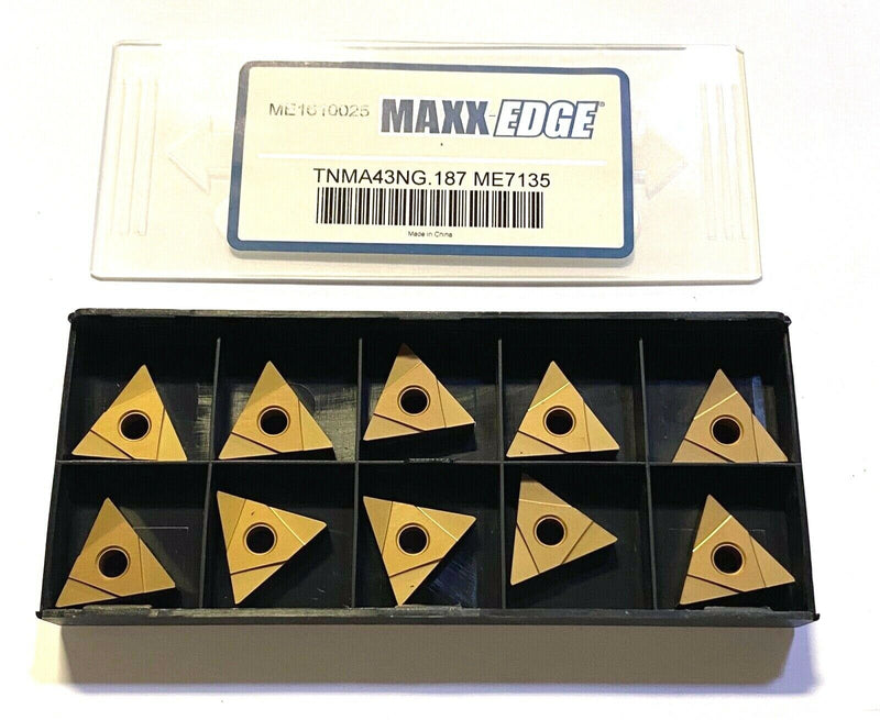 Maxx-Edge Carbide Grooving Insert TNMA43NG.187 Grade. ME7135 10 Pack