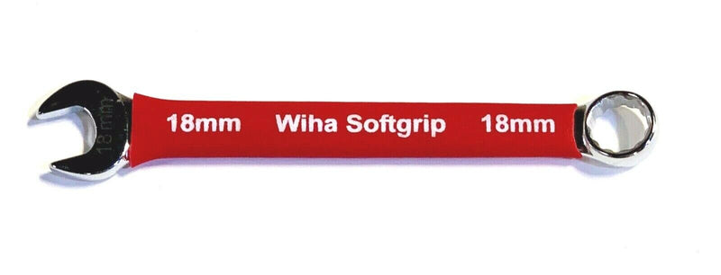 Wiha 18mm Combination Wrench Soft Grip Open Box Metric 12 Point Wrench