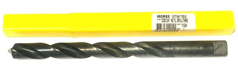 "Morse 3/4"" Drill Bit Extra Length Taper Length Heavy Duty Drill Tanged USA Made"
