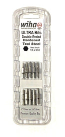 "Wiha Ultra Bits 1"" Double Ended 1/8"" & 9/64"" Hex Bits 1/4"" Driver 10 Pack 77768"