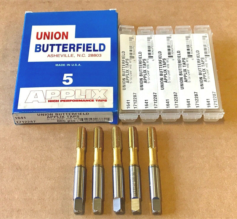 5 Union Butterfield 5/16-24NF Thread Forming Bottoming Tap H9 HSS USA Made