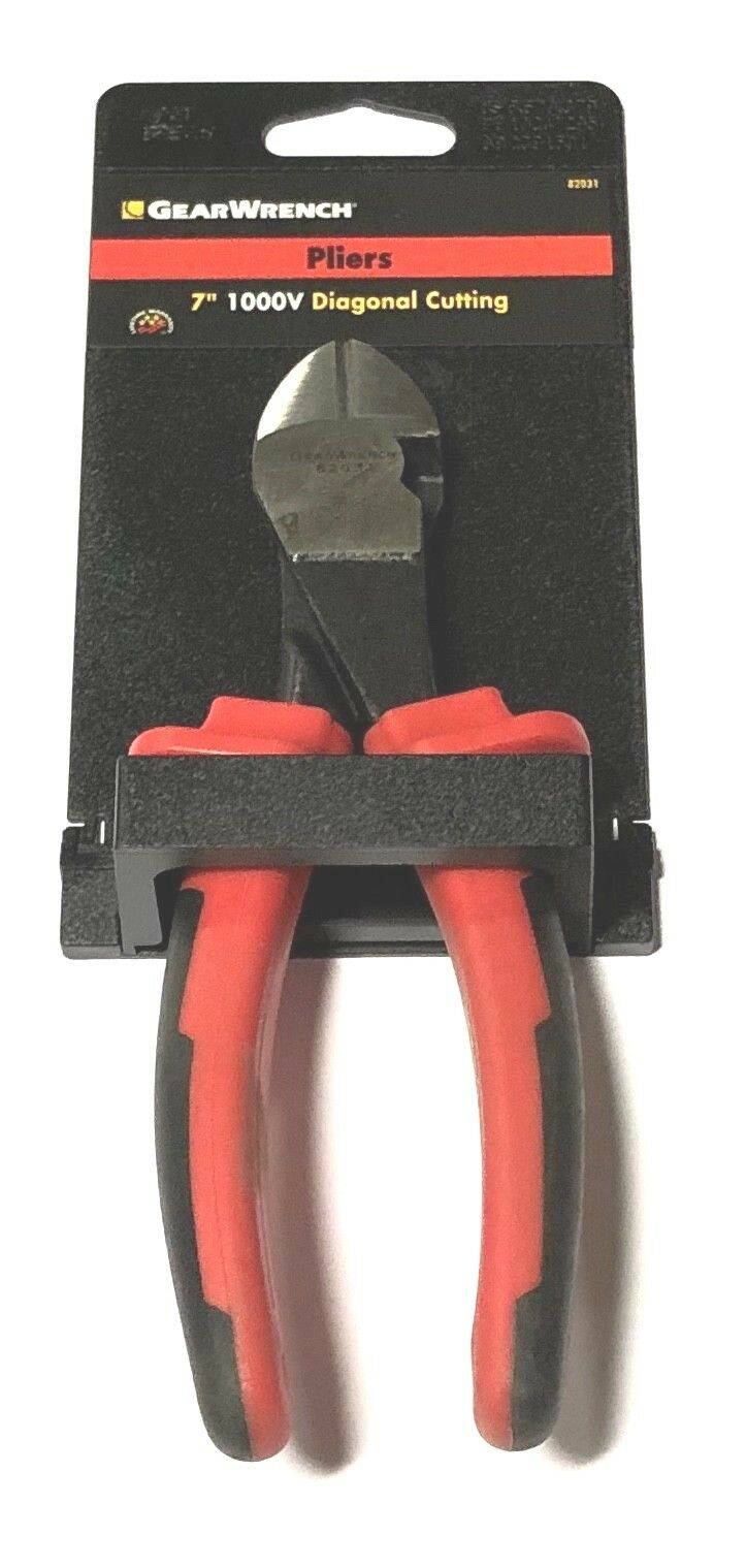 "GearWrench 7"" Insulated Diagonal Cutting Pliers 1000V"