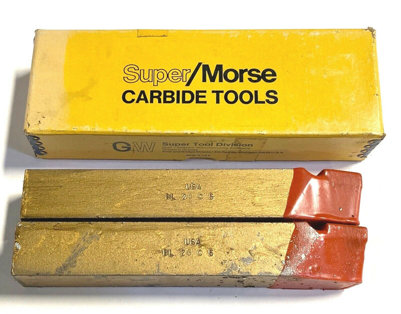 "Morse BL-20 Carbide Tipped Tool Bit C6 1-1/4"" USA Made 73437 2 Pack"