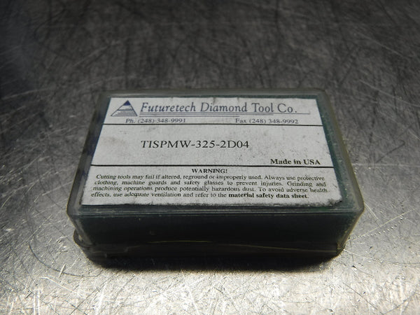 Futuretech PCD Diamond Tipped Carbide Inserts QTY2 SPMW-325-2D04 (LOC322)