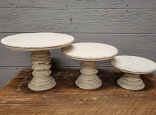 Load image into Gallery viewer, SMALL Wooden Cake Stands