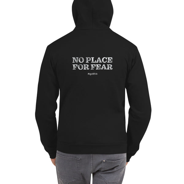 Hoodie sweater - NPFF front, full text back