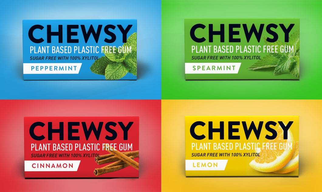 Chewsy - Plastic Free Chewing Gum Set - All Flavours