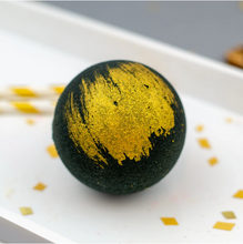 Load image into Gallery viewer, Black & Gold Bath Bomb