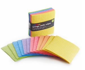 12 Rainbow Sponge Cloths Wipes