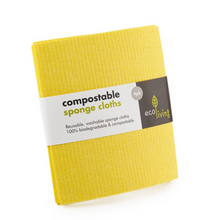 Load image into Gallery viewer, Compostable UK Sponge Cleaning Cloths (4 Pack)