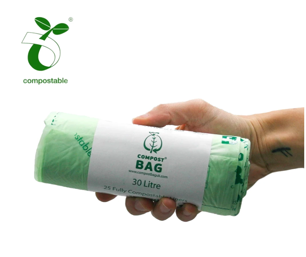 Compostable Biodegradable Bin Liners 30 Litres (25 bags per roll)
