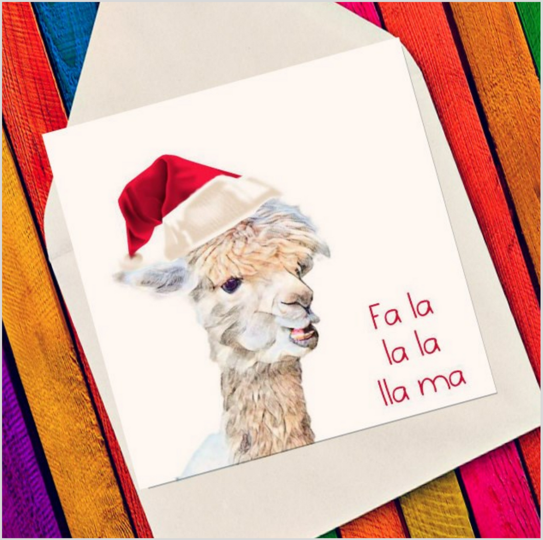 Fa la la la lla ma - Eco Friendly Card
