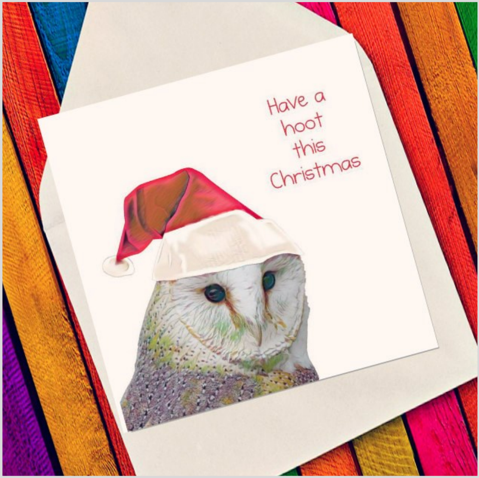 Christmas hoot - Eco Friendly Card