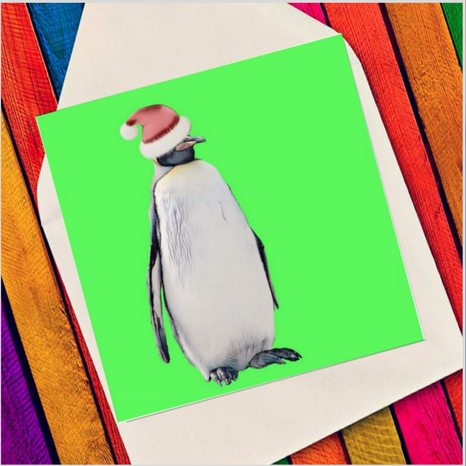 Character penguin - Eco Friendly Card